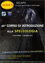 45° Corso di Introduzione alla Speleologia
