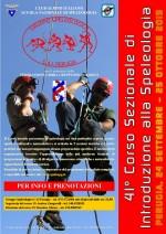 41° CORSO SEZIONALE DI INTRODUZIONE ALLA SPELEOLOGIA